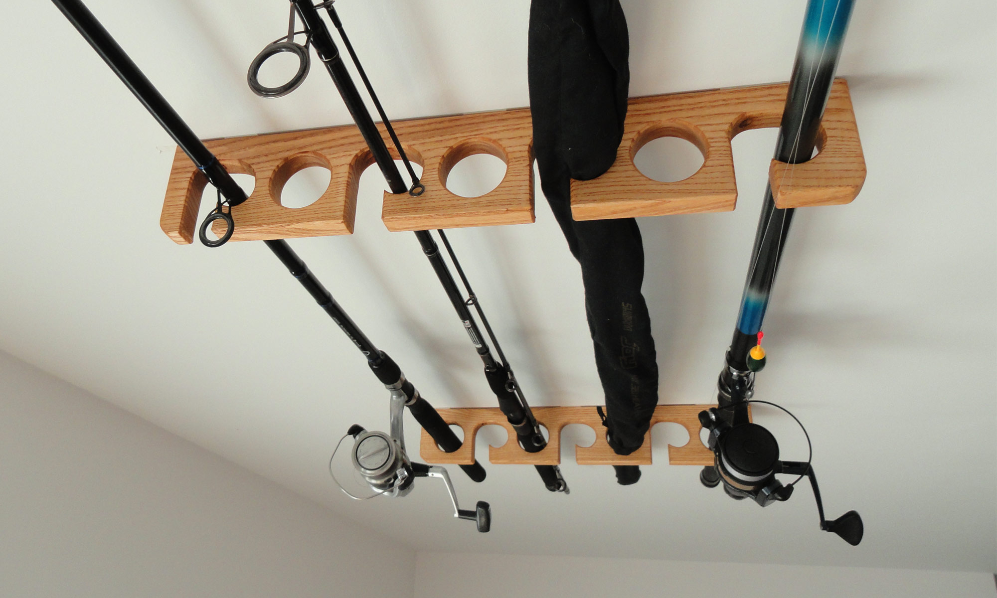 Wooden Fishing Rod Holder